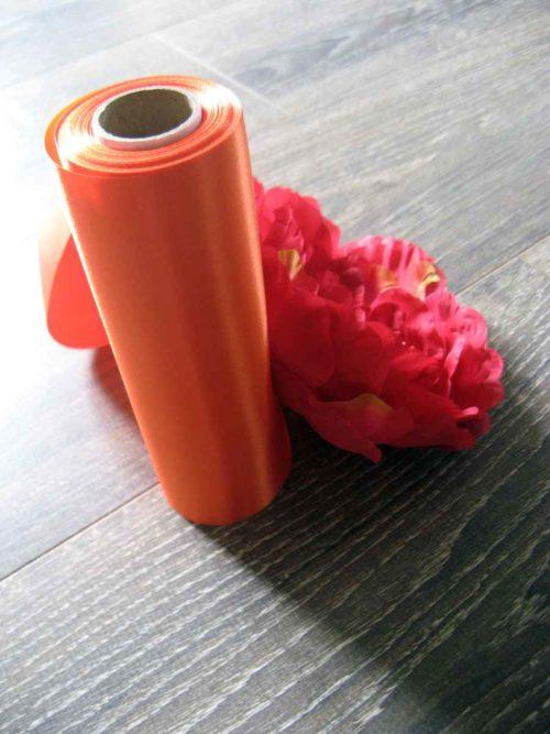 Saténová stuha 23-oranžová - evkakvety-eshop.eu