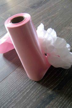Saténová stuha 25-ružová - evkakvety-eshop.eu