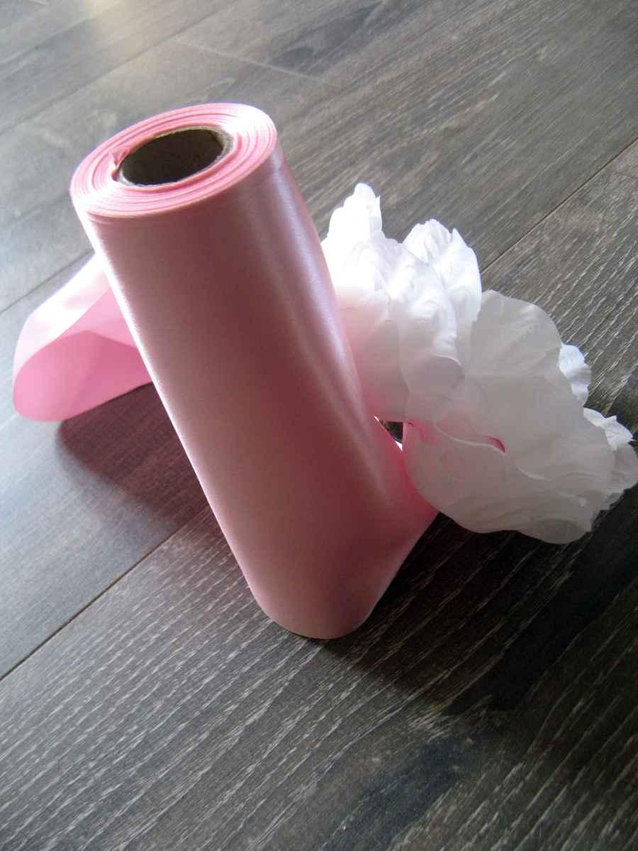 Saténová stuha 25-ružová – evkakvety-eshop.eu