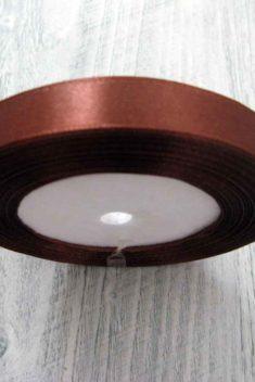 Saténová stuha hnedá - Brown obr.1 - evkakvety-eshop.eu