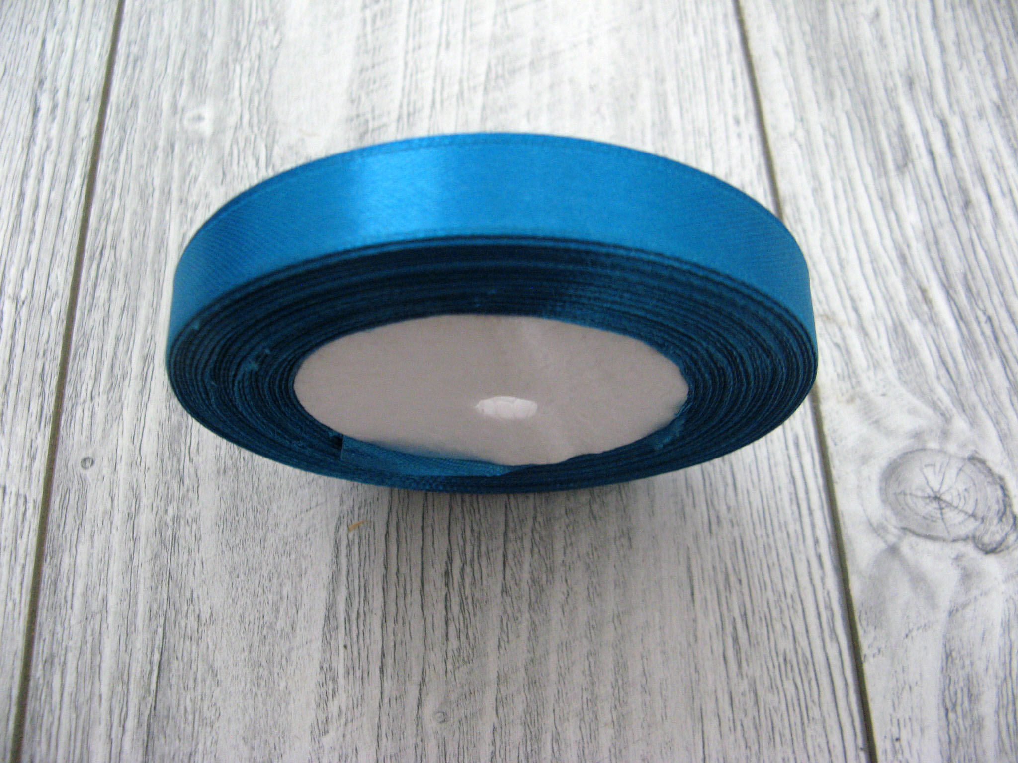 Saténová stuha modrá - Deep Blue obr.1 - evkakvety-eshop.eu