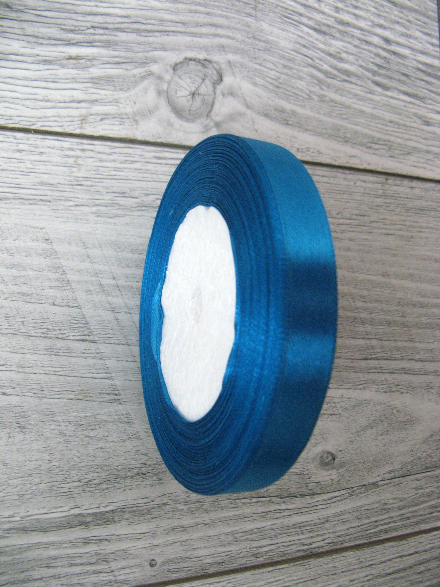 Saténová stuha modrá - Deep Blue obr.2 - evkakvety-eshop.eu