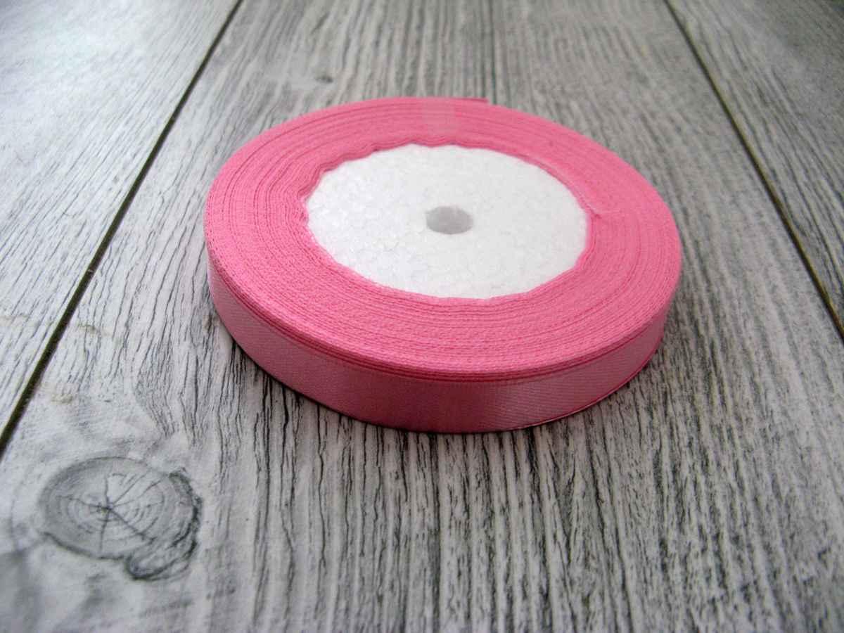 Saténová stuha ružová – Pink – evkakvety-eshop.eu