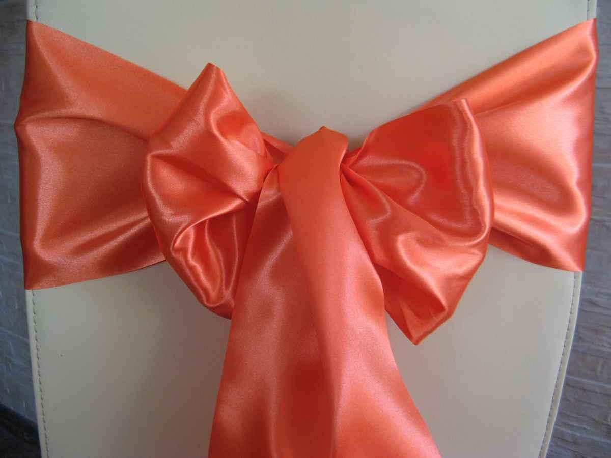 saténová mašľa 16cm oranžová - 23 - 1.obr. - evkakvety-eshop.eu