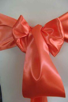 saténová mašľa 16cm oranžová - 23 - 2.obr. - evkakvety-eshop.eu