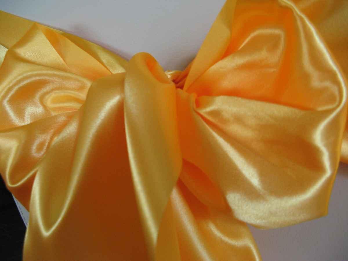 saténová mašľa 16cm žltooranžová - 34 - 3.obr. - evkakvety-eshop.eu