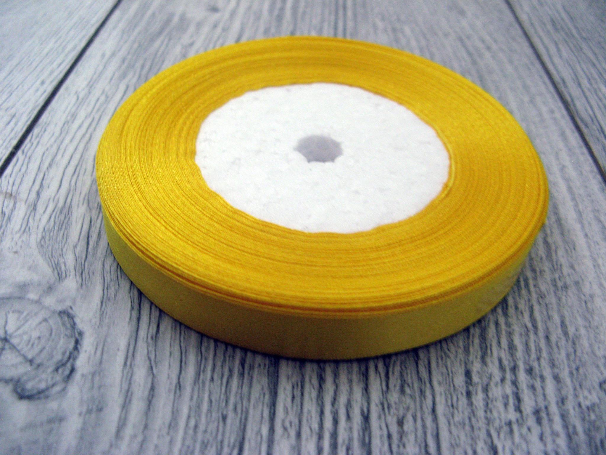 Saténová stuha žltá – Yellow – evkakvety-eshop.eu