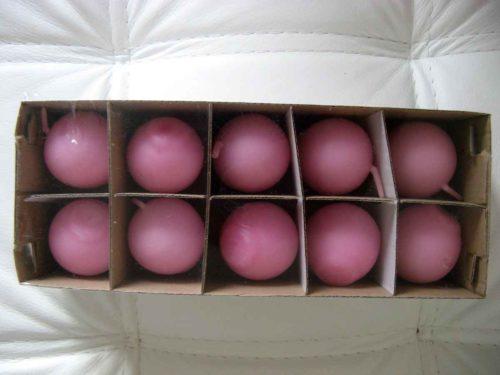 Sviečka guľa 45mm ružová - evkakvety-eshop.eu