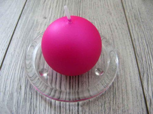 Sviečka guľa 6cm cyklámenová matná perleť obr.1 - evkakvety-eshop.eu