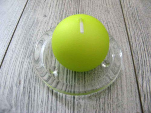 Sviečka guľa 6cm jabĺčková matná perleť obr.1 - evkakvety-eshop.eu