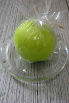 Sviečka guľa 6cm jabĺčková matná perleť obr.2 - evkakvety-eshop.eu