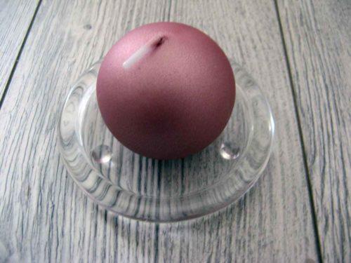 Sviečka guľa 6cm staroružová obr.1 - evkakvety-eshop.eu