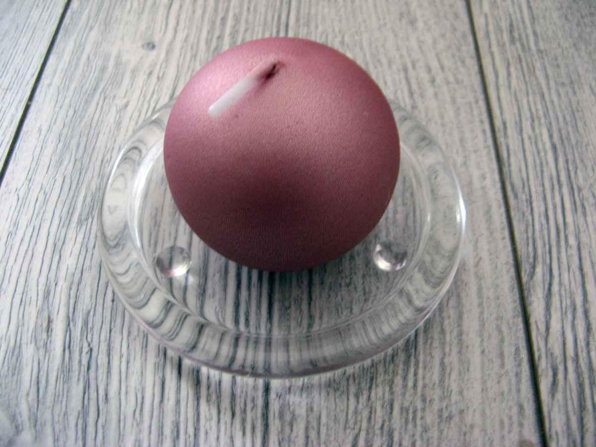 Sviečka guľa 6cm staroružová obr.1 – evkakvety-eshop.eu