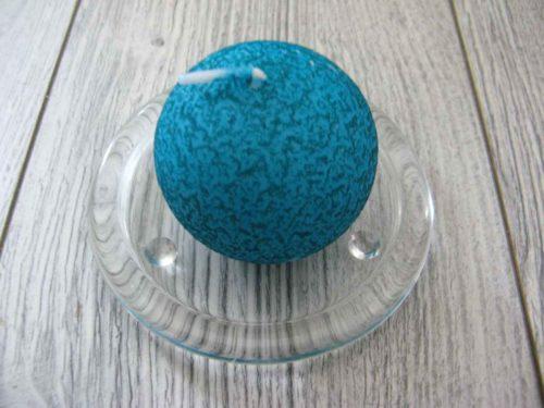 Sviečka guľa 6cm tyrkysová s efektom kôry obr.1 - evkakvety-eshop.eu