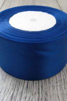 Saténová stuha modrá - Blue 50mm x 32m obr.1 - evkakvety-eshop.eu
