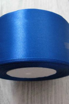 Saténová stuha modrá - Blue 50mm x 32m obr.2 - evkakvety-eshop.eu