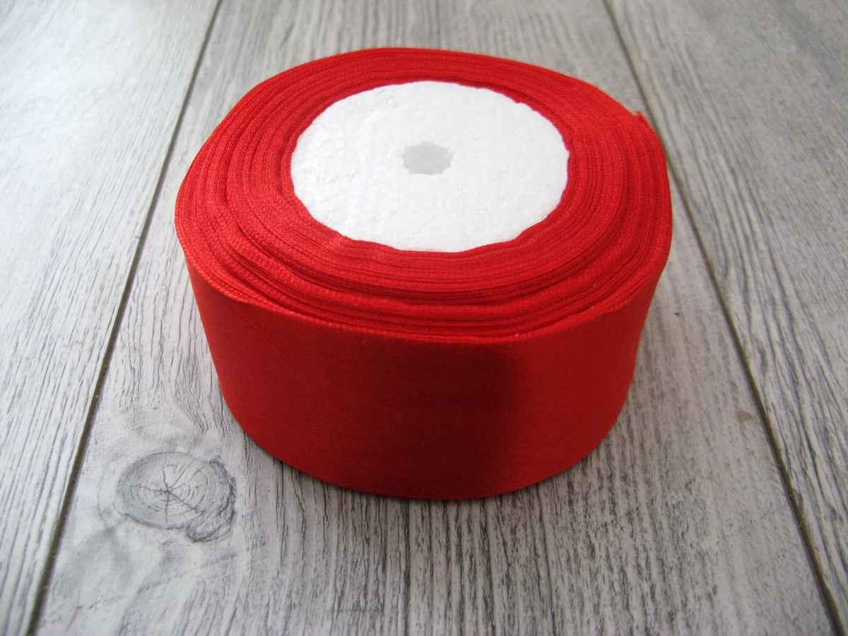 Červená stuha 50mm x 32m č.1 - evkakvety-eshop.eu