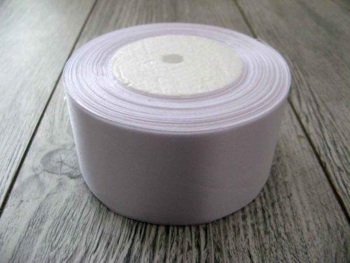 Saténová stuha biela - White 50mm x 32m obr.1 - evkakvety-eshop.eu
