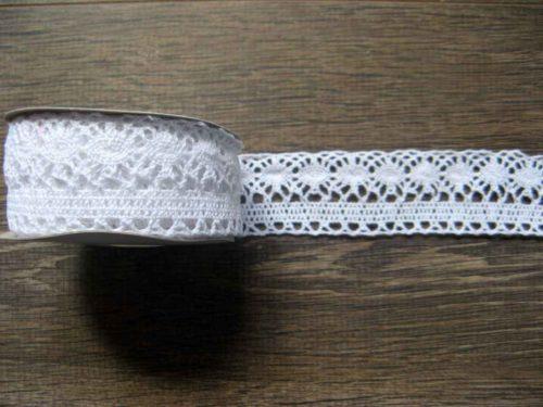 bavlnená čipka biela 35mm obr.1 - evkakvety-eshop.eu