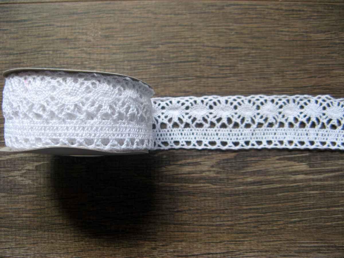 bavlnená čipka biela 35mm obr.1 – evkakvety-eshop.eu