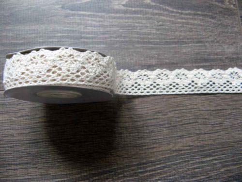 bavlnená čipka krémová 25mm obr.1 - evkakvety-eshop.eu