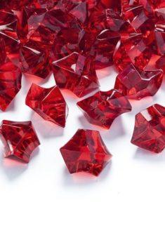 Červený ľad 2,5x2,1cm 50ks obr.1 - evkakvety-eshop.eu
