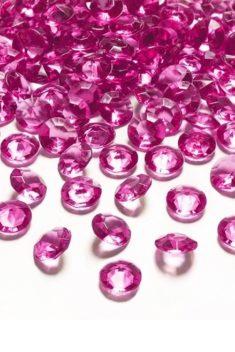 Ružové diamanty 12mm 100ks - evkakvety-eshop.eu