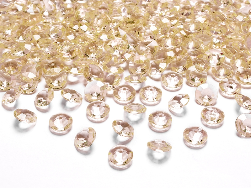 Zlaté diamanty 12mm 100ks - evkakvety-eshop.eu