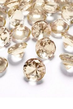 Zlaté diamanty 20mm 10ks - evkakvety-eshop.eu