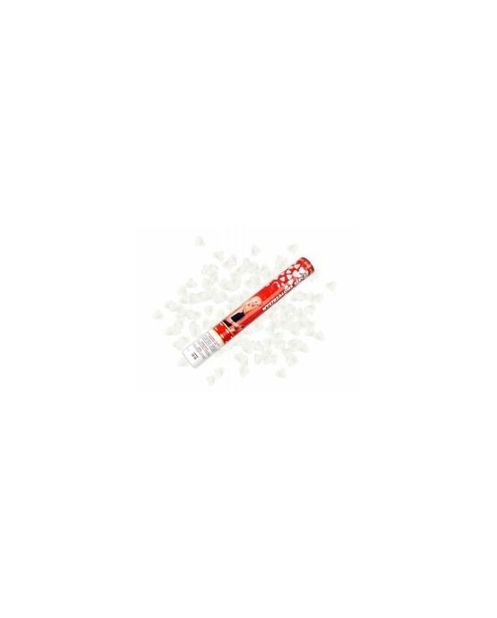 Vystreľovacie konfety biele srdcia 40cm - evkakvety-eshop.eu