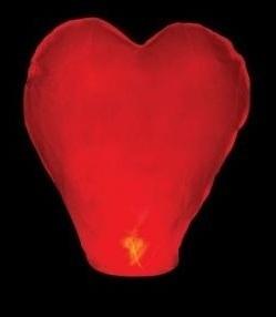 Lampión šťastia červené srdce - evkakvety-eshop.eu