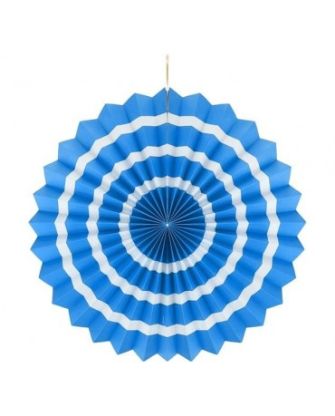 Rozeta modrá s pásikmi 40cm - evkakvety-eshop.eu
