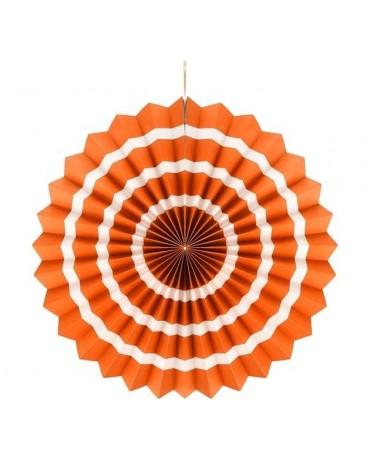 Rozeta oranžová s pásikmi 40cm - evkakvety-eshop.eu
