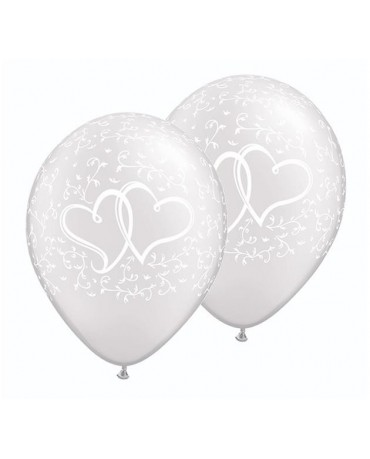 Latexový balón perleťový so srdiečkami 28cm - evkakvety-eshop.eu