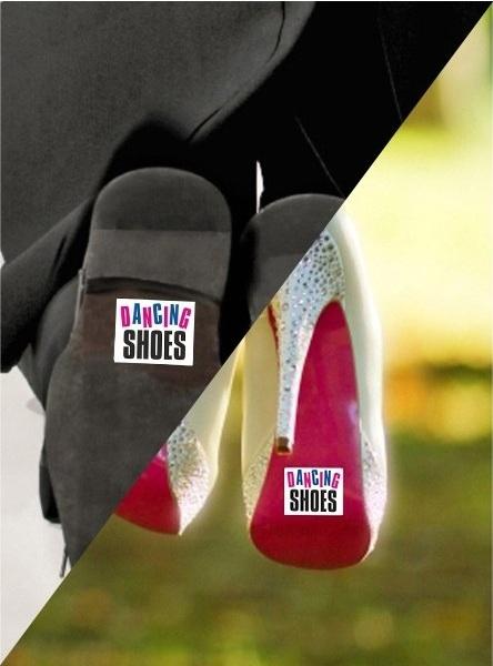 Nálepky na topánky Dancing Shoes 2ks - evkakvety-eshop.eu