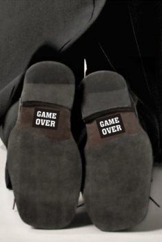 Nálepky na topánky Game Over 2ks - evkakvety-eshop.eu