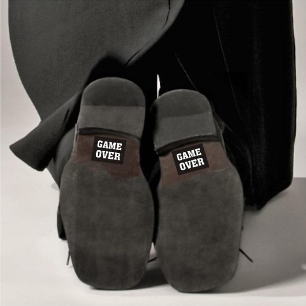 Nálepky na topánky Game Over 2ks – evkakvety-eshop.eu