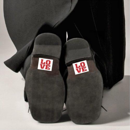 Nálepky na topánky Love 2ks - evkakvety-eshop.eu