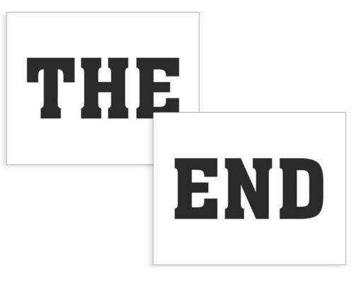 Nálepky na topánky The End 2ks - evkakvety-eshop.eu