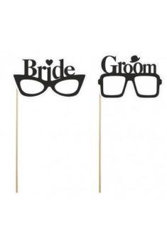Rekvizity na fotenie Bride a Groom 2ks obr.2 - evkakvety-eshop.eu