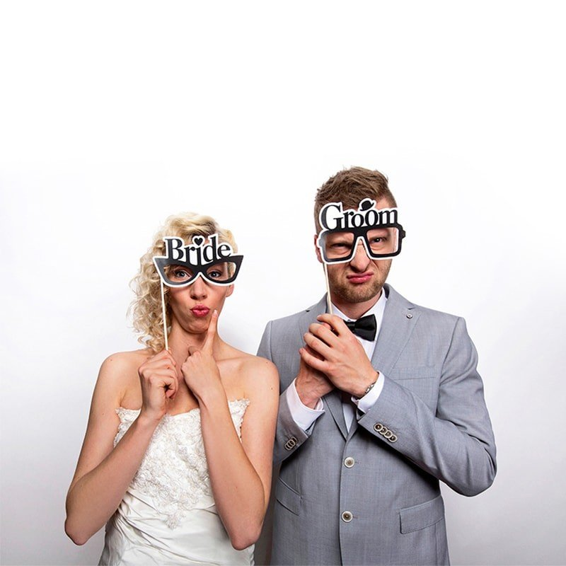 Rekvizity na fotenie Bride a Groom 2ks obr.1 - evkakvety-eshop.eu