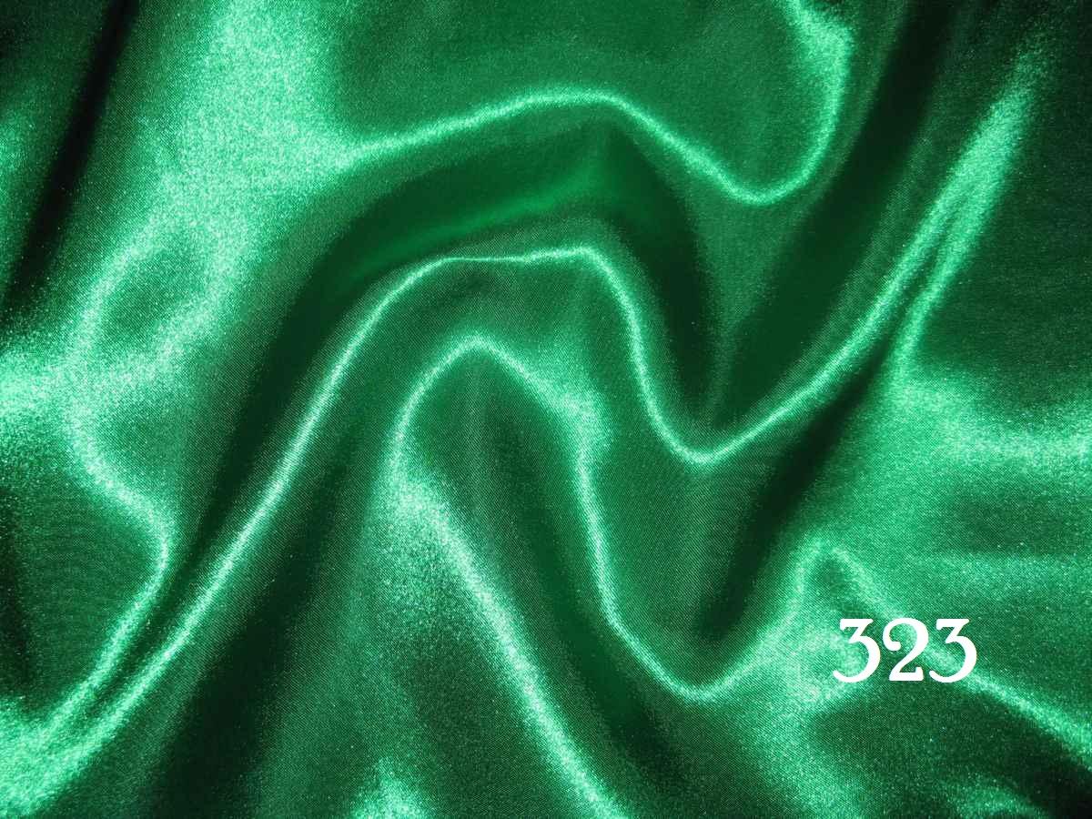 323 - zelená - satén - evkakvety-eshop.eu