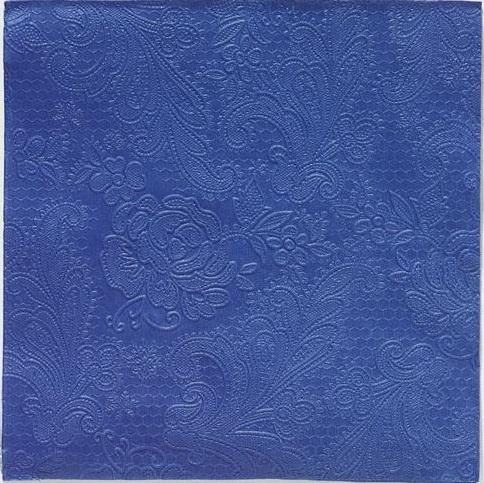Reliéfna servítka s motívom čipky - kráľovská modrá - evkakvety-eshop.eu