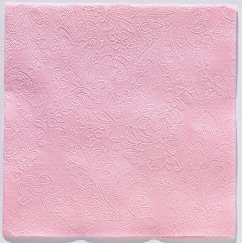 Reliéfna servítka s motívom čipky - ružová - evkakvety-eshop.eu