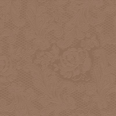 Reliéfna servítka s motívom čipky - čokoládová - evkakvety-eshop.eu