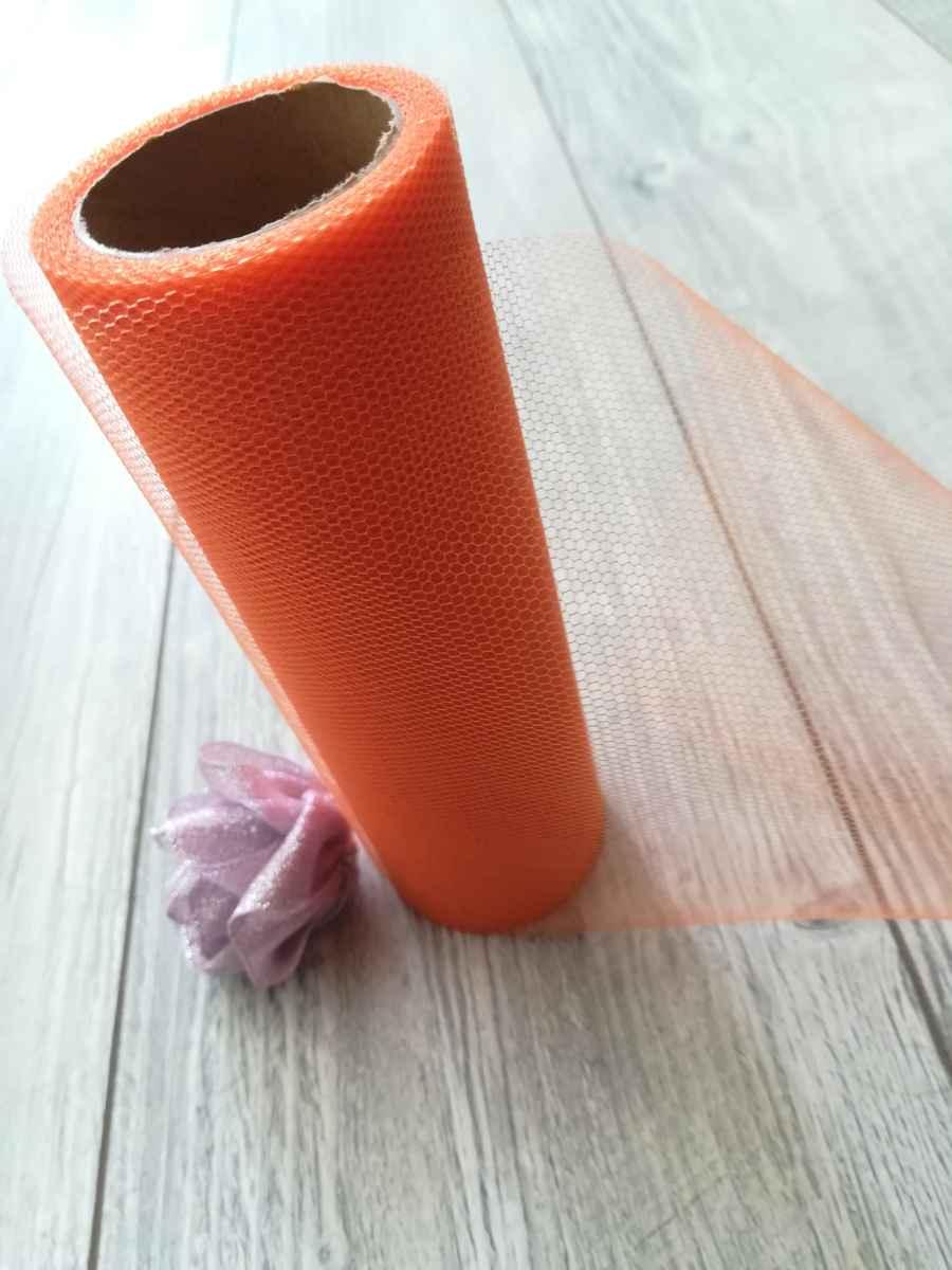 oranžový tyl obr.3 - evkakvety-eshop.eu