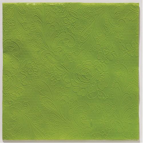 Reliéfna servítka s  motívom čipky – trávovozelená – evkakvety-eshop.eu