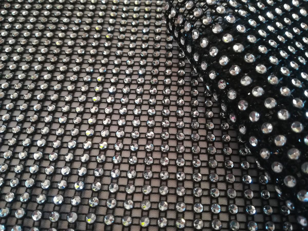 Diamantový pás 12cm - čierno-strieborný - evkakvety-eshop.eu