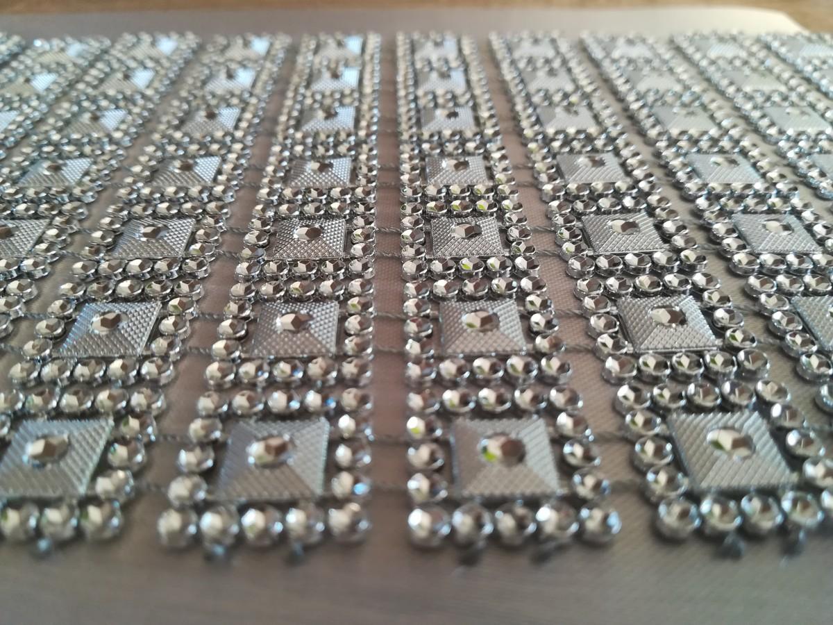 Diamantový pás I 10,5cm – strieborný – evkakvety-eshop.eu