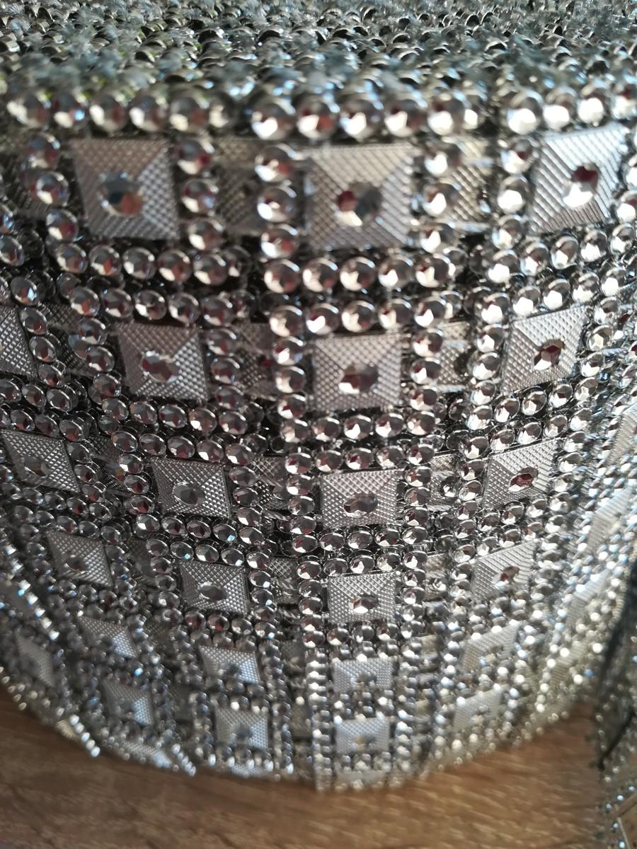 Diamantový pás I 10,5cm - strieborný - evkakvety-eshop.eu